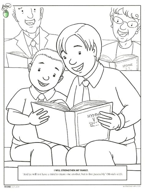 lds coloring pages sabbath day sabbath day coloring pages
