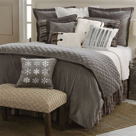 ski bedding rustic bedding queen size silver mountain bed set black