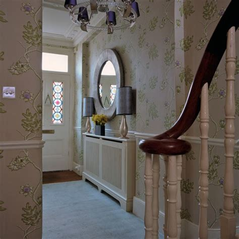 wallpaper design hallway hall makeover with fabulous wallpaper designs