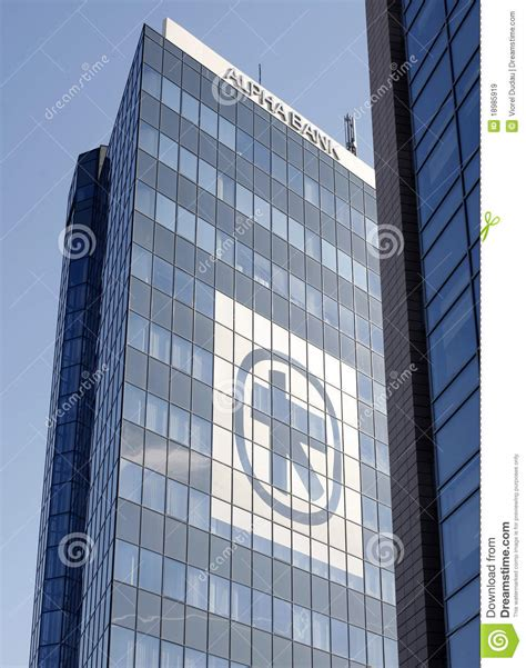Alpha Bank Headquarters In Bucharest Editorial Stock Image