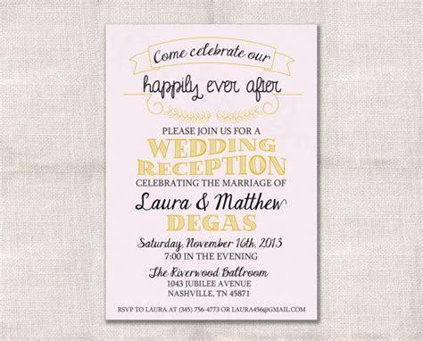 wedding reception invitation after marriage wedding reception celebration after invitation