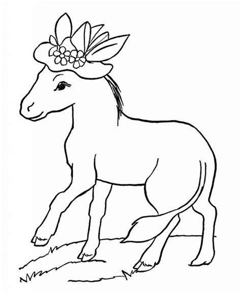 Free Printable Donkey Coloring Pages For Kids Free Kid Coloring Pages