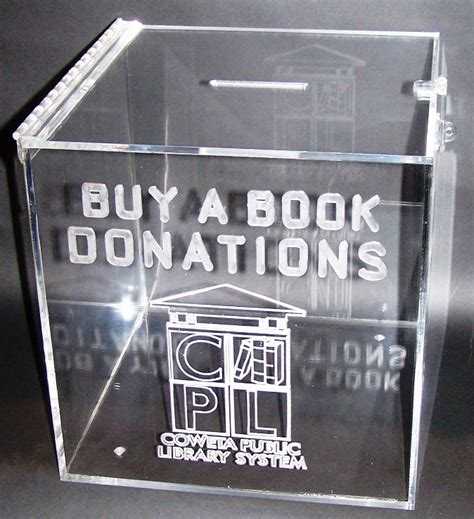 Donation Box Letter Displays By Rioux Custom Acrylic Display Cases And Stands