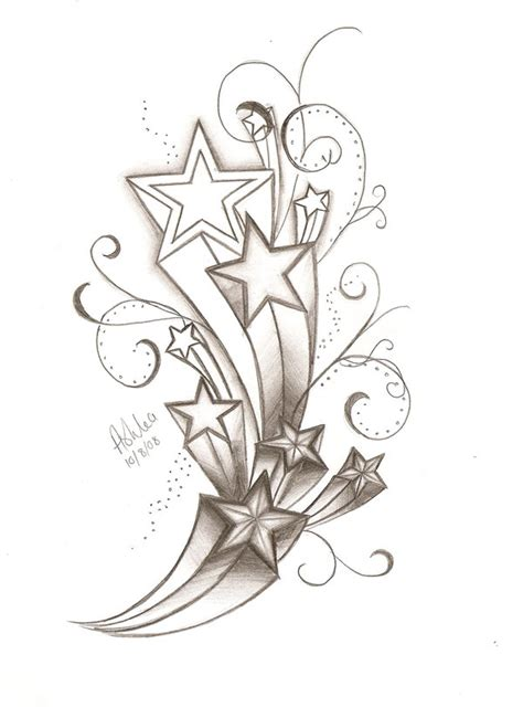 shooting star tattoo designs shooting design
