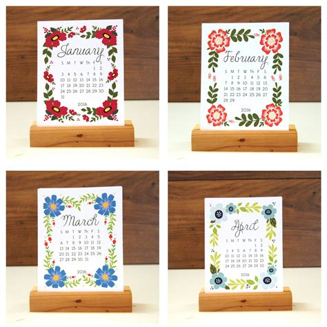 Handmade Calendars Ideas - 20 creative calendar designs