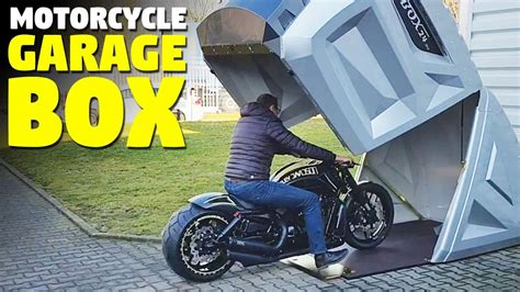 motorcycle storage shed bikebox youtube