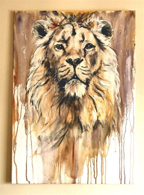 Lion Chandra Original Acrylic Painting Animal Painting By Geoff Dawson Paintings Pinterest Animal Painting For