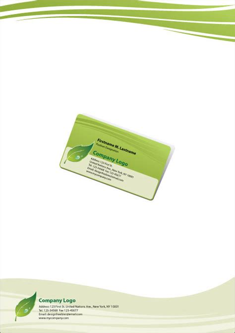 free green card templates free illustrator templates green eco friendly business
