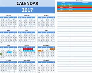Excel Calendar Templates by 2016 One Page Calendar Excel Template Calendar Template 2016
