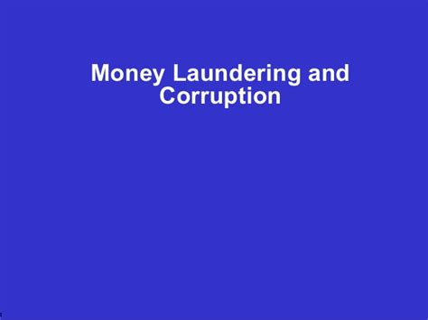 Mba Concentration Anti Money Laundering by Money Laundering Presentation