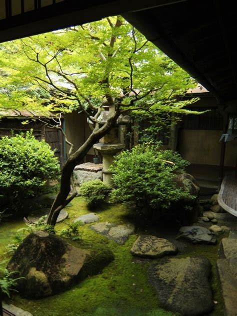 picture  peaceful japanese inspired backyard gardens