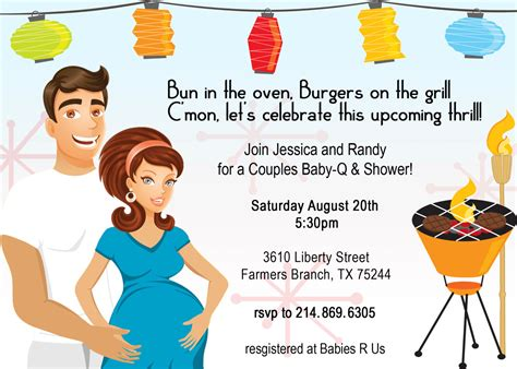 What Is Co Ed Baby Shower by Retro Coed Baby Bbq Shower Invitation