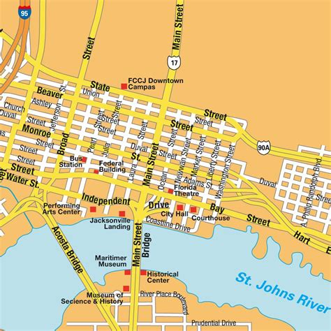 jacksonville fl map city center map jacksonville fl