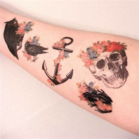 anchor flower tattoo designs surprising anchor tattoos that are about more than just