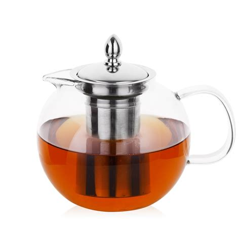 glass teapot with hiware glass teapot with removable infuser 45oz blooming