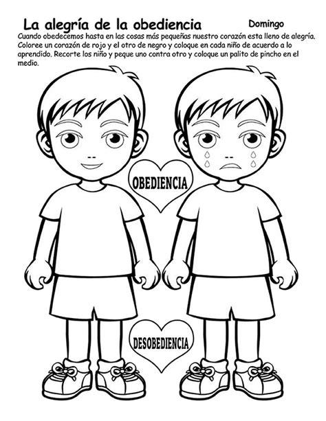 dibujos cristianos de la obediencia ebi chile dibujos para colorear