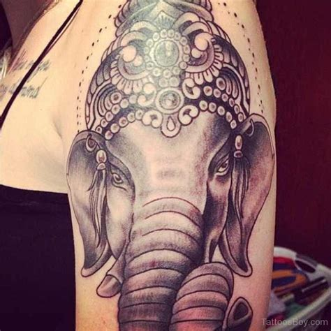 tattoo on shoulder face ganesha face tattoo on shoulder tattoo designs tattoo