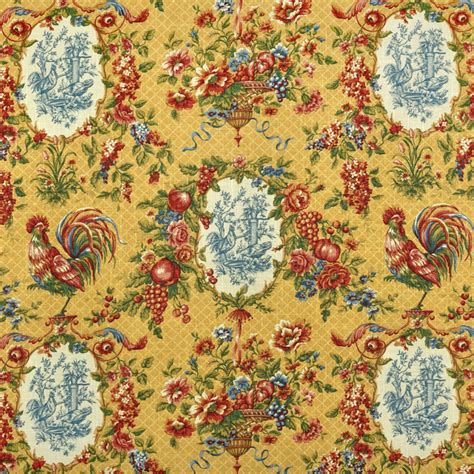 country french upholstery fabric waverly saison de printemps saffron fabric toile fabric