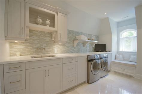 glass laundry room cabinets design ideas