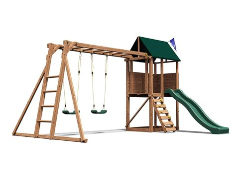 wooden swing climbing frame kids swing set wooden climbing frame childrens garden
