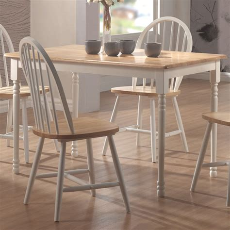 shop coaster furniture wood dining table at lowes