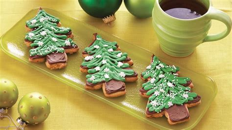peanut butter christmas tree cookies recipe from pillsbury com