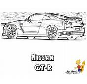 Free Coloring Pages Of Nissan Gtr