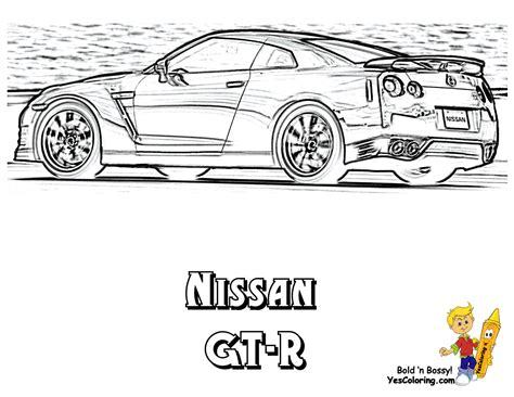 nissan cars coloring pages powerful car printables free kids printables sposrts