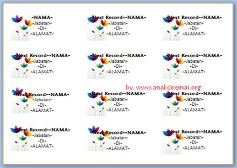 format label 103 untuk undangan penulisan nama di label undangan 103 kalam azhar