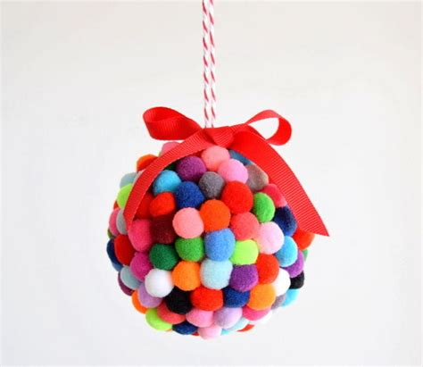 21 diy styrofoam ball christmas ornaments diy pom pom