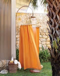 Outdoor Shower Curtains by Drop Cloth Decor Martha Stewart