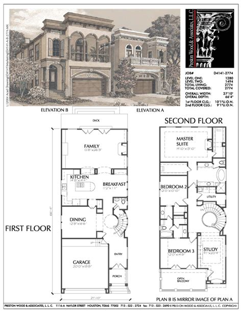 Narrow Home Plans by Narrow Urban Home Plans Small Narrow Lot Inner City House