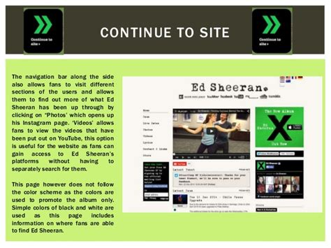 ed sheeran website ed sheeran website analysis by fariha haque