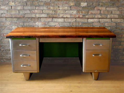 reclaimed wood steel desk furnishings desk