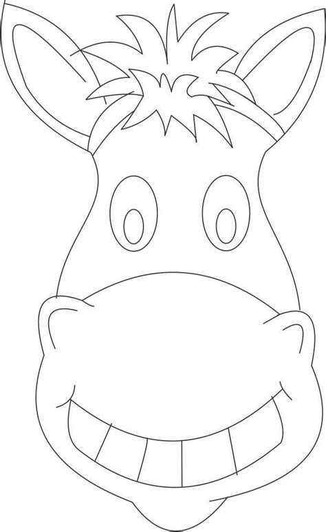 horse mask printable coloring page  kids kids crafts