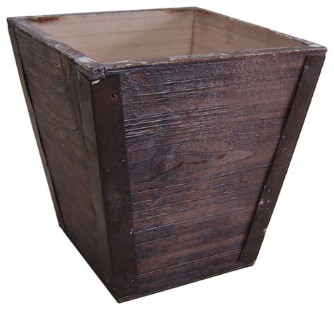 square outdoor planters sepia square wooden garden pot farmhouse outdoor pots