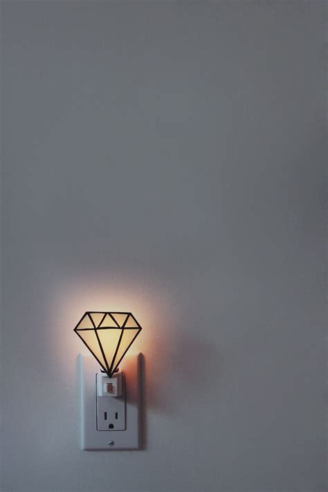 easy diy night light diy gem nightlight almost makes perfect