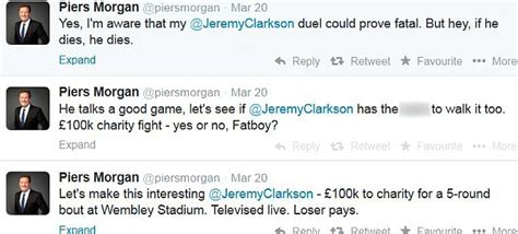 clarkson punches piers piers calls clarkson chicken for refusing to