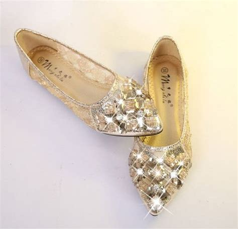 Sepatu Flat Shoes List Gold comfortable shoes flats gold gauze flat shoes pointed toe flats for shallow