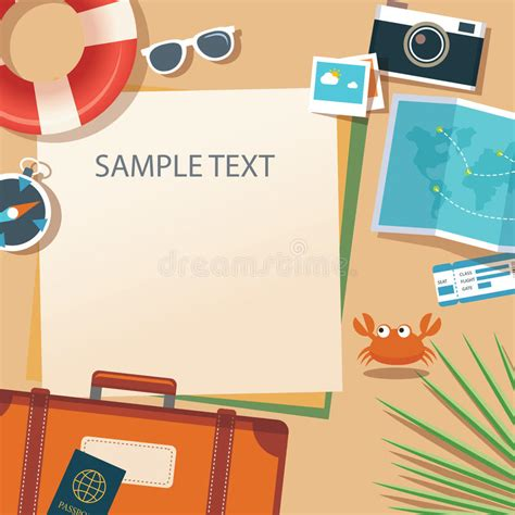 design banner travel summer and travel flat design banner template stock vector