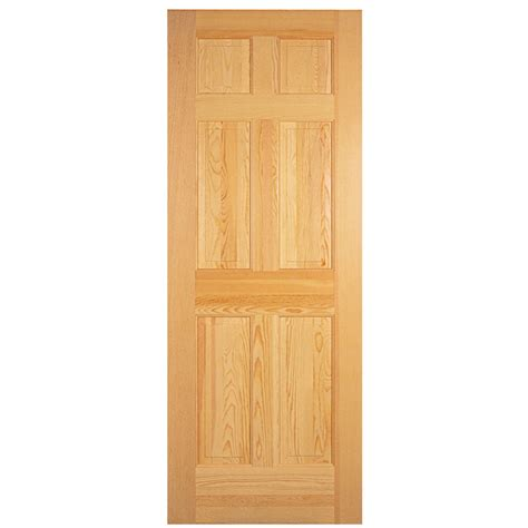 Solid Interior Door Slab shop reliabilt 6 panel solid non bored interior slab