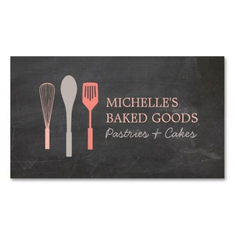 Rolling Pin And Whisk Business Card Template Pimk by 25 Best Ideas About Bakery Business Cards On