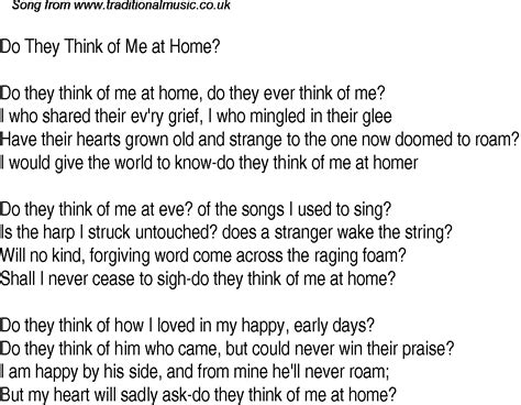 time song lyrics for 28 do they think of me at home