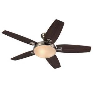 harbor ceiling fan remote harbor 48 in brushed nickel indoor 5 blade standard