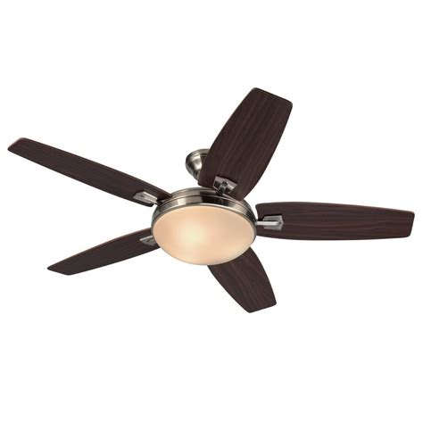 harbor breeze fan remote harbor breeze 48 in brushed nickel indoor 5 blade standard