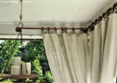 diy curtain rod ideas diy outdoor furniture and decor ideas