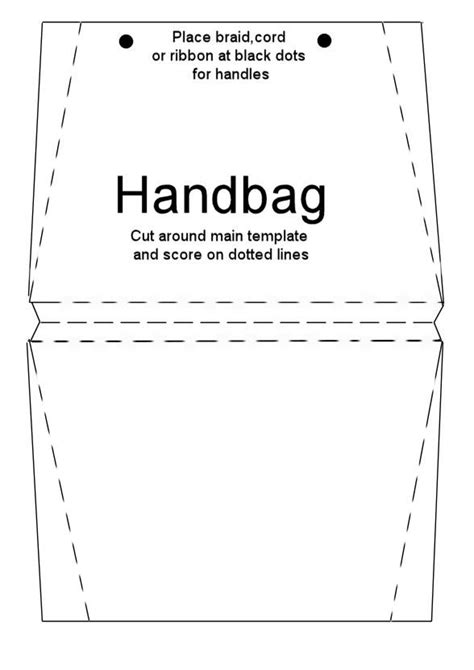 Handbag Template For Card by Printable Purse Template Handbag Card Briefcase Card