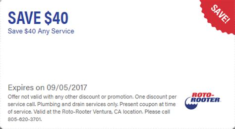 Save On Plumbing by Coupons Roto Rooter 174
