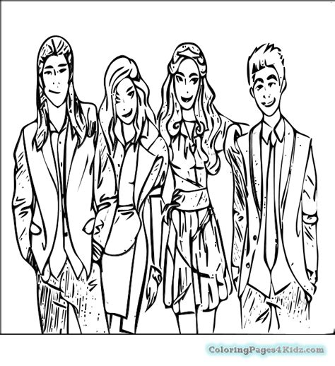 coloring pages the descendants phone coloring disney descendants pages to print new at
