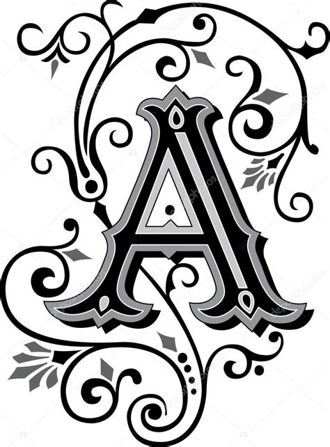 lettere dell alfabeto decorate lettera di alfabeto inglese splendidamente decorate un